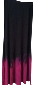 Blue Life Maxi Skirt Black burgundy