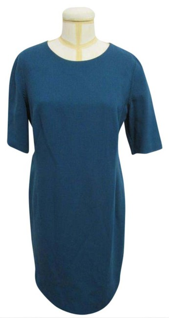 Preload https://img-static.tradesy.com/item/20885718/blue-w-short-sleeves-and-seaming-mid-length-night-out-dress-size-12-l-0-1-650-650.jpg