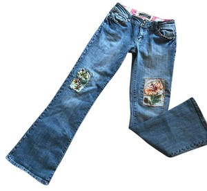 Younique Clothing Flare Leg Jeans-Medium Wash