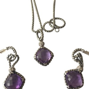 David Yurman Amethyst dangle