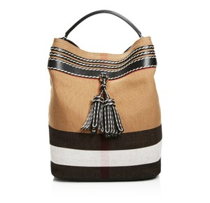Burberry Ashby Tassel Whipstitch Hobo Bag