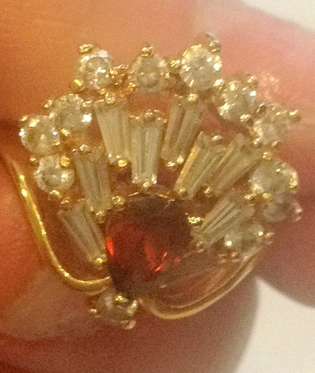 Other 14k gold peacock ring , diamonds tail and ruby body