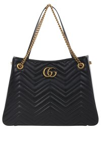 Gucci Leather Gg Marmont Shoulder Bag