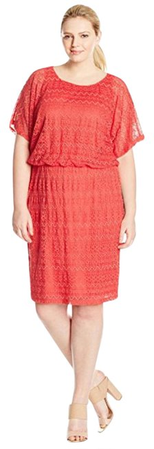 Preload https://img-static.tradesy.com/item/20885969/london-times-coral-ric-rac-lace-mid-length-workoffice-dress-size-22-plus-2x-0-1-650-650.jpg