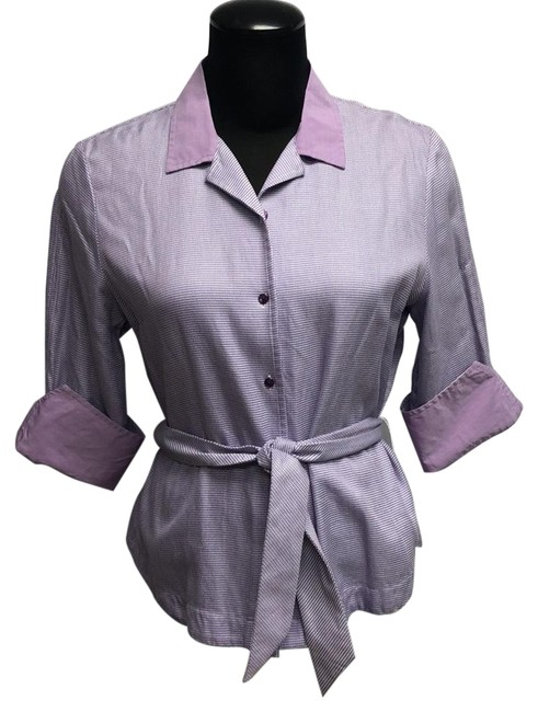 Preload https://img-static.tradesy.com/item/20885982/faconnable-purple-and-white-button-down-top-size-10-m-0-3-650-650.jpg