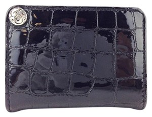 Brighton Bright Black Patent Alligator Embossed Picture Credit Card Holder