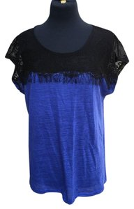 Jaclyn Smith Top black and blue