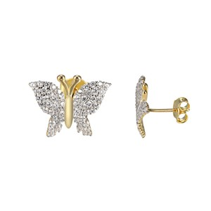 Other Butterfly Style Earrings 14k Gold Over Sterling Silver