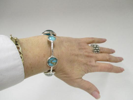 Ippolita IPPOLITA Wonderland 6 Station Sterling Silver Bangle w/Turquoise