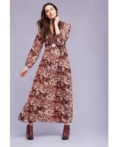 Maroon Maxi Dress by Anthropologie