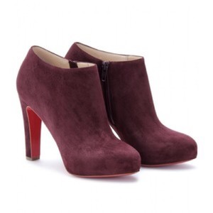 Christian Louboutin burgundy Boots