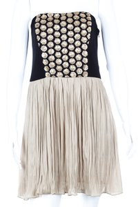 Rachel Roy Strapless Sequin Party Pleated Dress