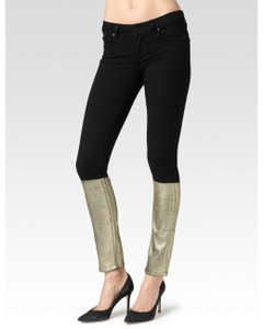 Paige Denim Paige Sexy Gold Party Skinny Skinny Jeans-Coated