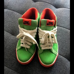 Nike lime green & red Athletic