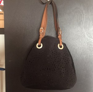 Marni Tote in black shade/cognac leather