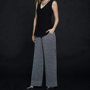 Katherine Barclay Wide Leg Pants Black/white