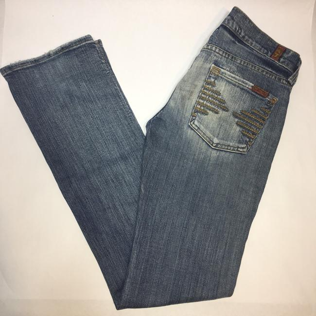 7 For All Mankind Straight Leg Jeans-Light Wash
