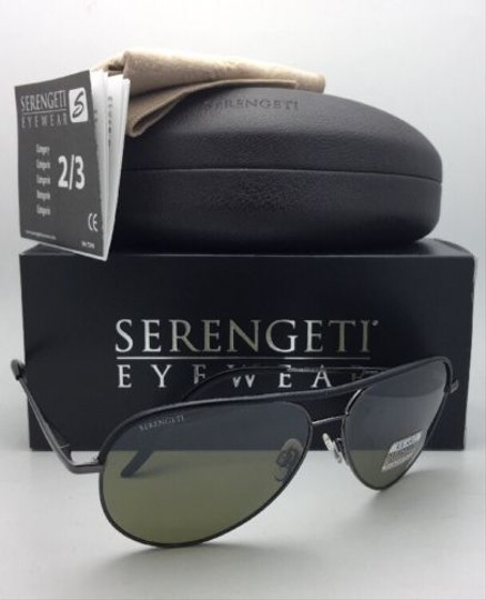 Serengeti SERENGETI Photochromic Polarized Sunglasses CARARRA LEATHER 8548 Black