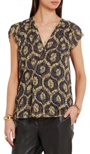 Isabel Marant Top multicolored yellow/blue print