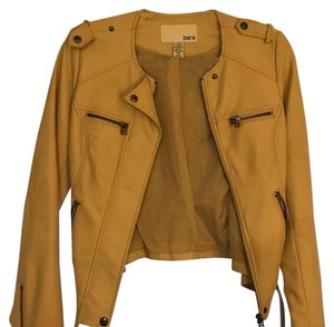 Bar III light tan Leather Jacket