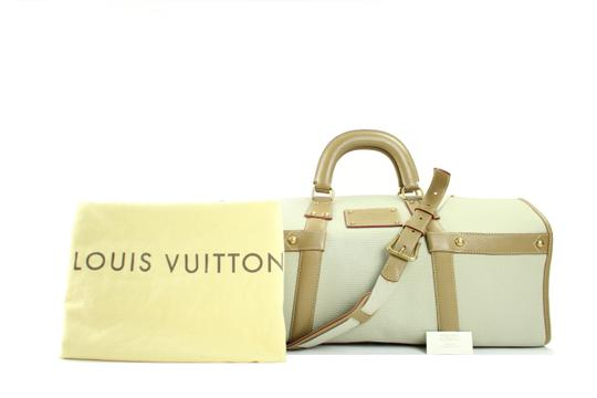 Louis Vuitton Neverfull Trianon Duffle Keepall Bandouliere cream Travel Bag