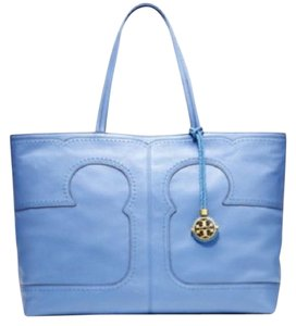 Tory Burch Periwinkle Leather Tote in blue