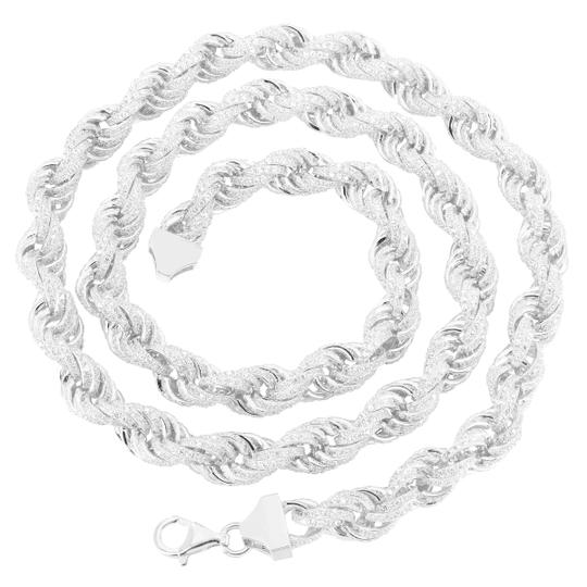 Preload https://img-static.tradesy.com/item/20886609/rope-link-24-simulated-diamond-iced-out-sterling-925-silver-necklace-0-0-540-540.jpg