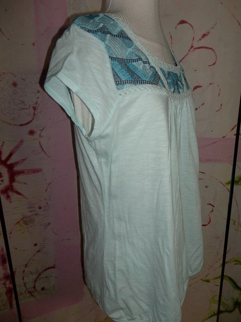 Ruff Hewn Large Embroidary Lace Elastic Waist Made In India Tunic