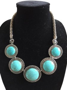 Other NEW! Turquoise Chunky Neckless