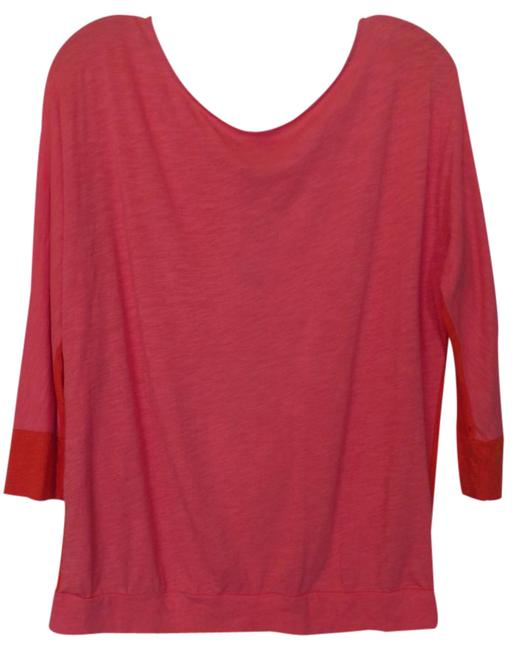 Preload https://img-static.tradesy.com/item/20886748/ann-taylor-loft-orange-and-pink-w-purple-color-block-oversized-cotton-modal-knit-blouse-size-12-l-0-1-650-650.jpg