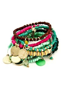 Aris Bohemian Beaded Stretch Bracelet 10 Stack #B0131INC0M