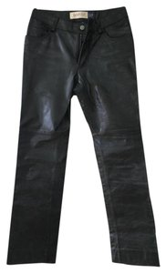 Gap Leather Boot Cut Pants Black Leather