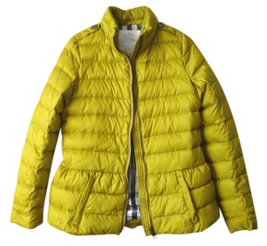 Burberry Down Peplum Quilted mustard yellow Jacket