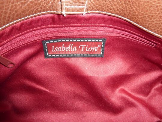 Isabella Fiore Retro Beading Wool Leather Chic Baguette