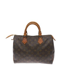 Louis Vuitton Monogram Coated Canvas .leather Satchel in Brown