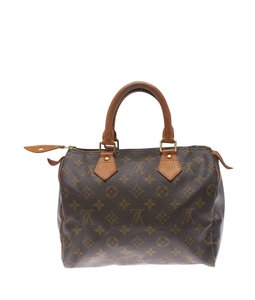 Louis Vuitton Monogram Coated Canvas Leather Satchel in ,Brown