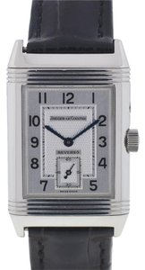 Jaeger-LeCoultre Jaeger LeCoultre Reverso Stainless Steel Leather Strap Watch
