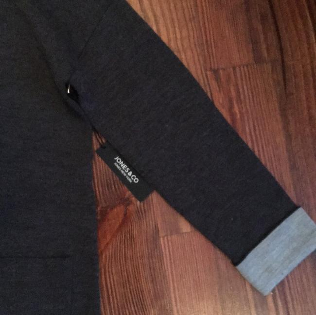 Jones New York & Co Ny Hoodie Cardigan charcoal grey Jacket