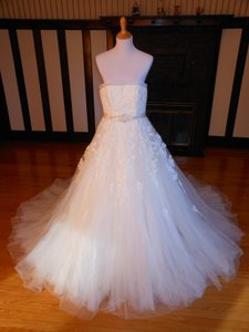 Pronovias Off White Lace Argelia Destination Wedding Dress Size 12 (L)