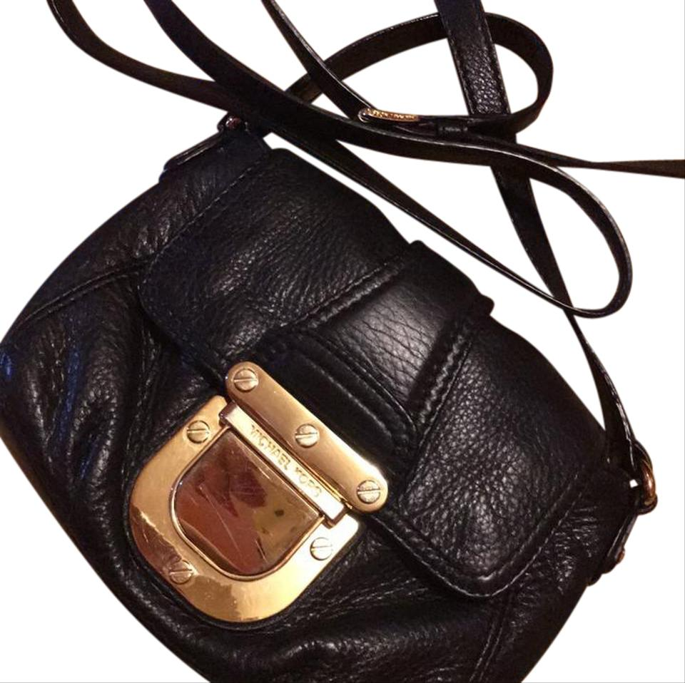 c570ecef57fd2 Michael Kors Sale Today Only Black with Gold Hardware Cross Body Bag ...