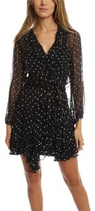 ZIMMERMANN short dress Black Crepe Sheer Polka Dot Spring Ruffle on Tradesy