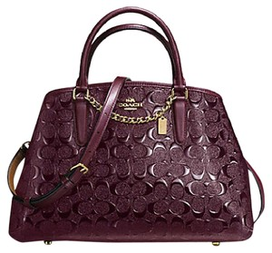 Coach Satchel in IMITATION GOLD/OXBLOOD 1