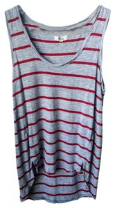 Madewell Stripes Top Grey/Red Stripes