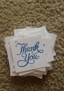 Handstamped Thank You Tags
