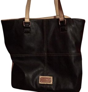 Nine West Tote in black with beige straps