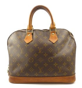 Louis Vuitton Monogram Canvas Alma Leather Satchel in Brown