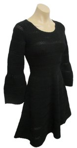 Sandro Knit Bell Sleeve Dress