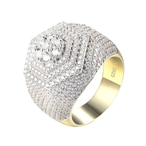 Other Men Simulated Diamond Ring Sterling Silver Hip Hop Style Iced Out