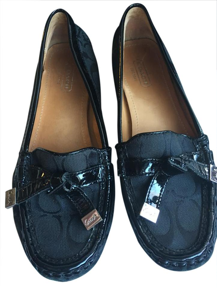 b06b677eb77 Coach Black Frida- Slip On Tie Tassel Loafers Silver Rubber Soles ...