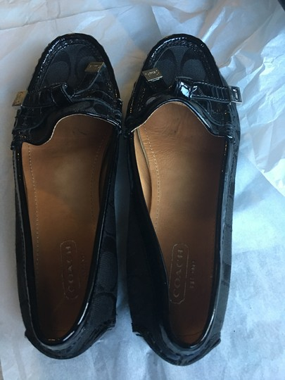 Coach Tassels Fabric Black Flats